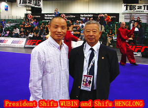Shifu Henglong with President shifu